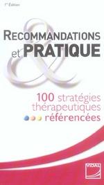 Vidal recos 150 Synthèses de recommandations thérapeutiques