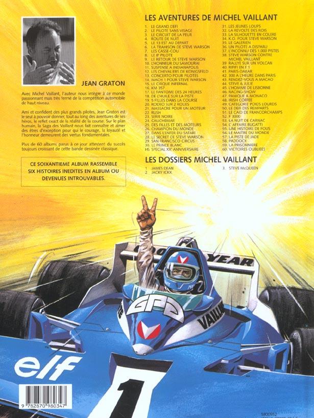 Michel Vaillant T.60 ; victoires oubliées