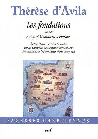 Fondations ; actes et mémoires et poésies