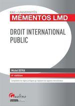 Vente Livre Numérique : Droit international public - 4e édition  - Michel Deyra