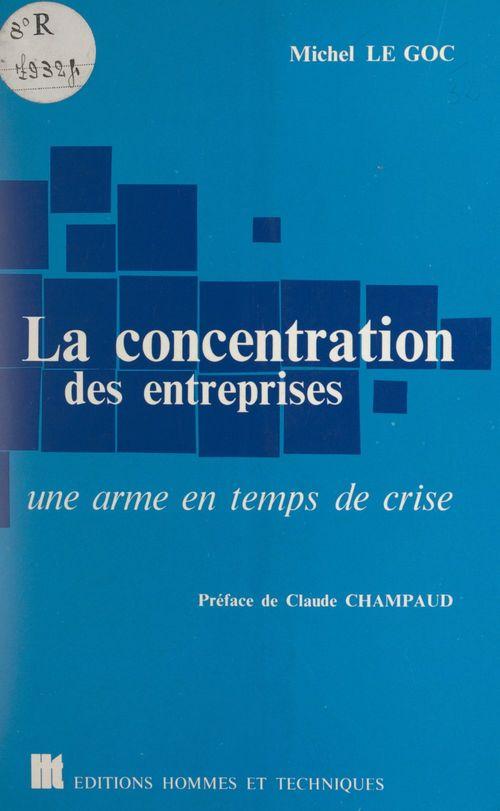 La concentration des entreprises