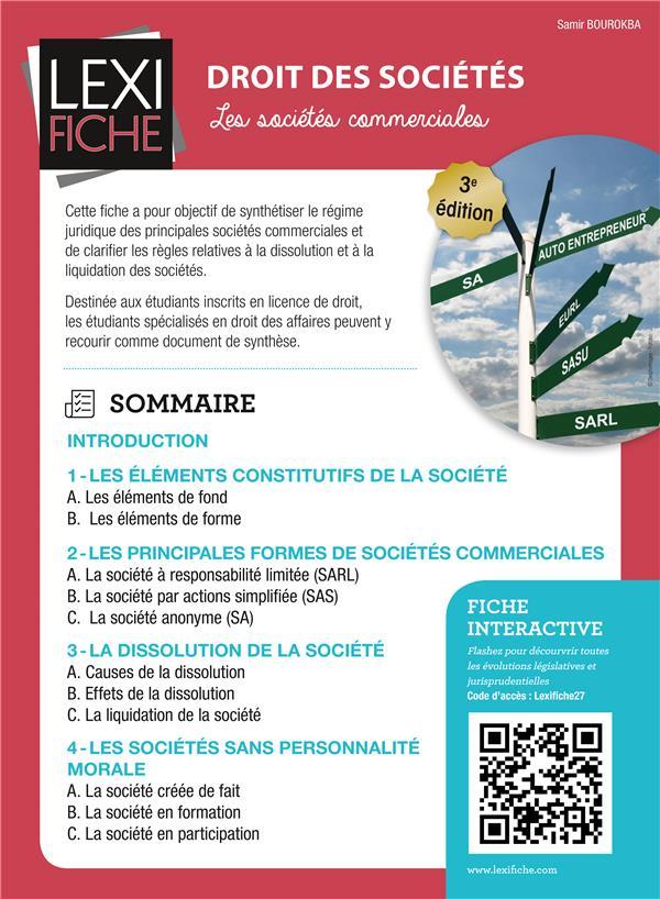 Droit Des Societes ; Les Societes Commerciales (3e Edition)