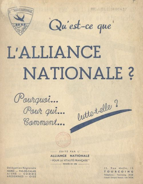 Qu'est-ce que l'alliance nationale ?