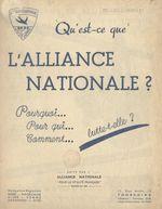 Qu'est-ce que l'alliance nationale ?  - Alliance Nationale pour la Vitalité Française