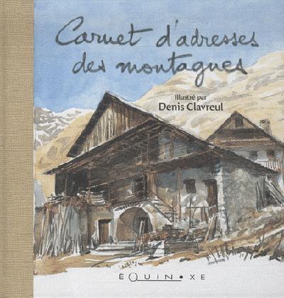 (BEIGE) CARNET D-ADRESSES DES MONTAGNES