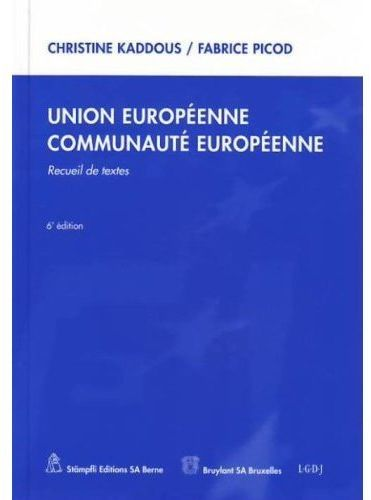 Union européenne ; communaute européenne