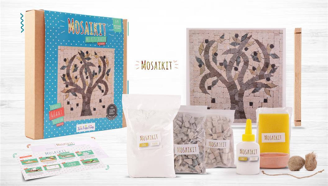 Kit mosaique geant ; l'olivier (mosaikit)