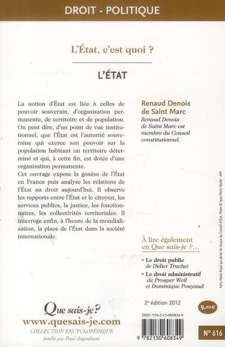 l'état (2e édition)