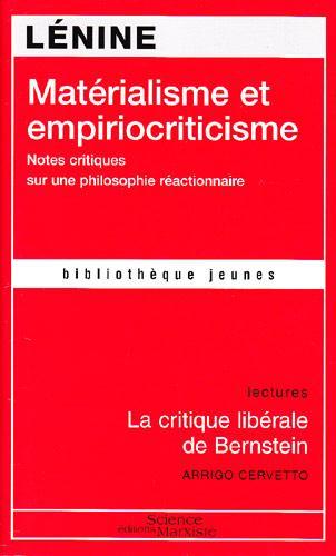 Matérialisme et empiriocriticisme ; la critique libérale de Bernstein