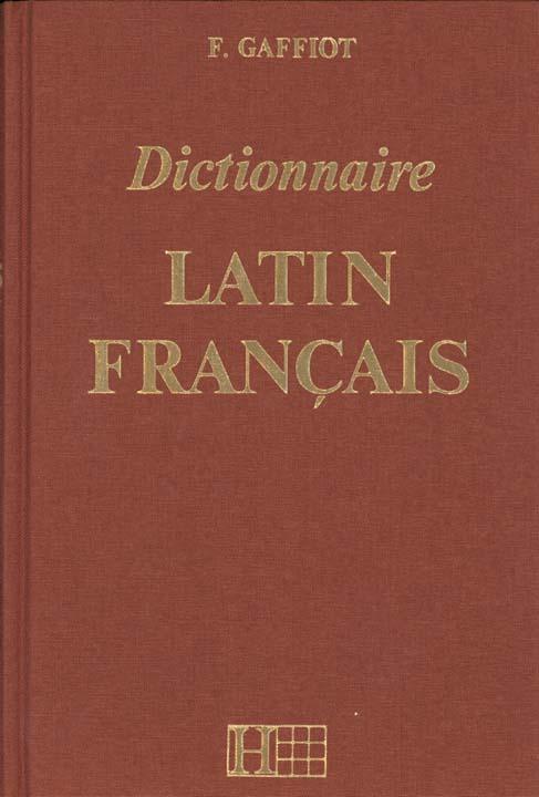 Dictionnaire latin francais (complet / marron)