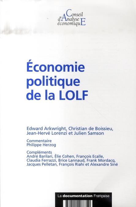 Economie Politique De La Lolf