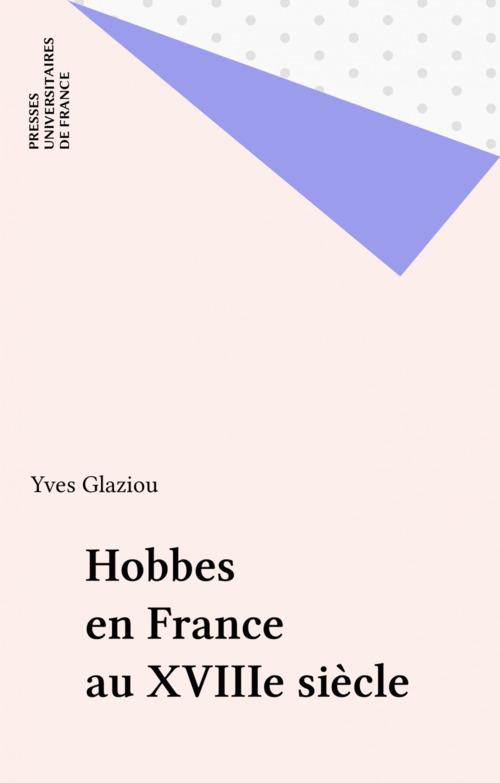 Hobbes en France au XVIIIe siècle