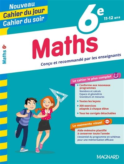 Cahiers du jour/ soir ; mathématiques ; 6e
