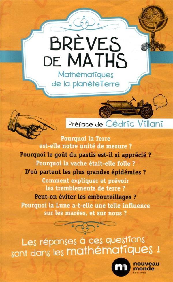 brèves de maths ; mathématiques de la planète Terre (2e édition)