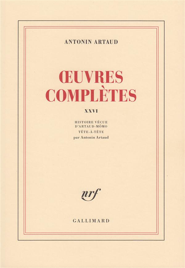 Oeuvres completes (tome 26)