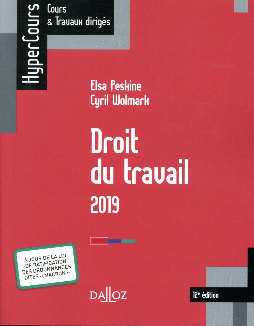 Droit du travail (édition 2018)