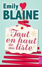 Vente Livre Numérique : Tout en haut de ma liste  - Emily Blaine