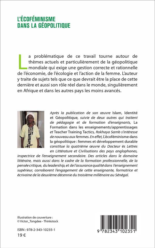 L'écoféminisme dans la géopolitique ; femmes et développement durable