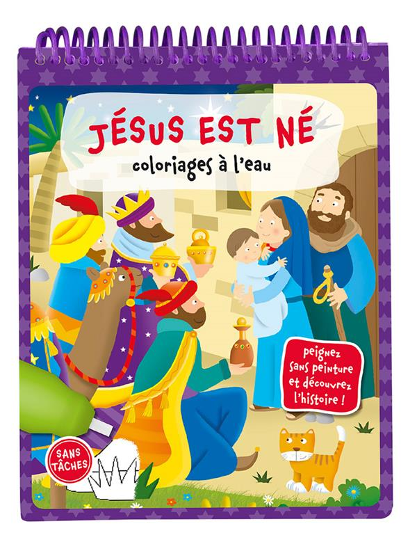 Jésus est né ; coloriages à l'eau