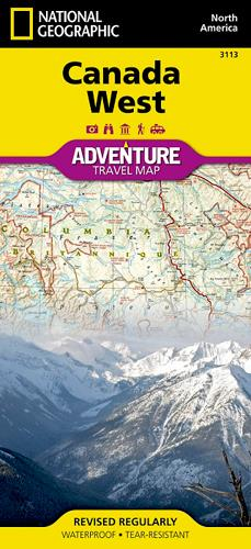 Canada West ; adventure travel map
