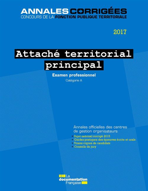 Attaché territorial principal 2017 - Examens professionnels