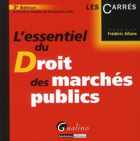 l'essentiel du droit des marchés publics