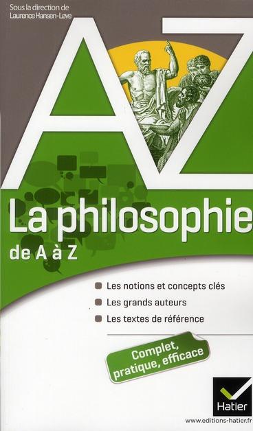 CLEMENT, ELISABETH - LA PHILOSOPHIE DE A A Z