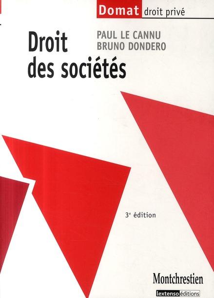 Droit des sociétés (3e édition)