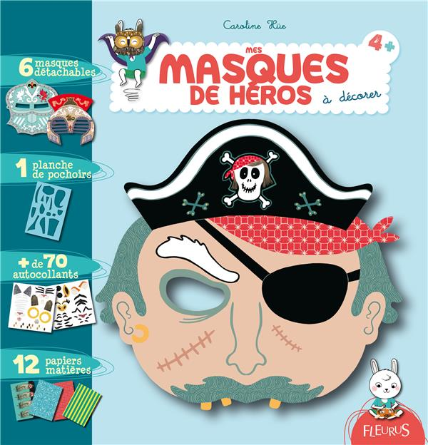 mes masques de héros à décorer