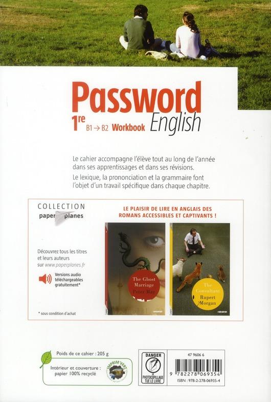 PASSWORD ENGLISH ; anglais ; 1ère ; workbook