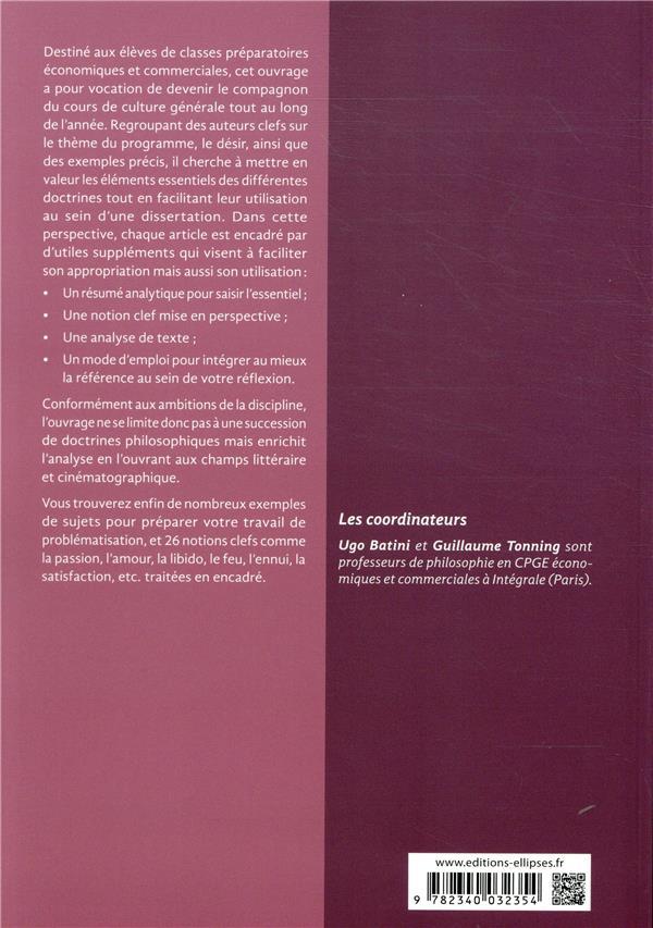 Le désir ; prépa ECE, ECS ; culture générale ; auteur par auteur (édition 2020)