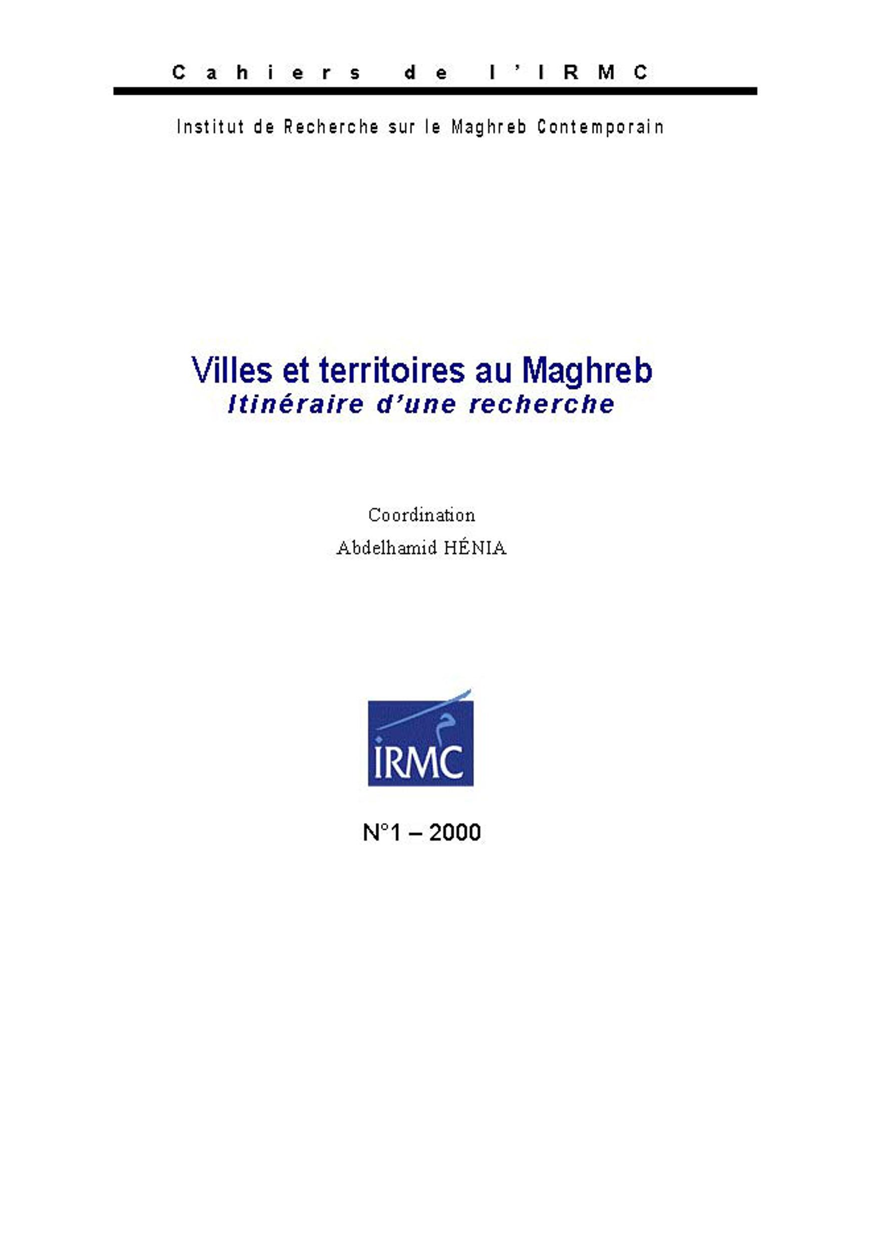 Villes et territoires au Maghreb