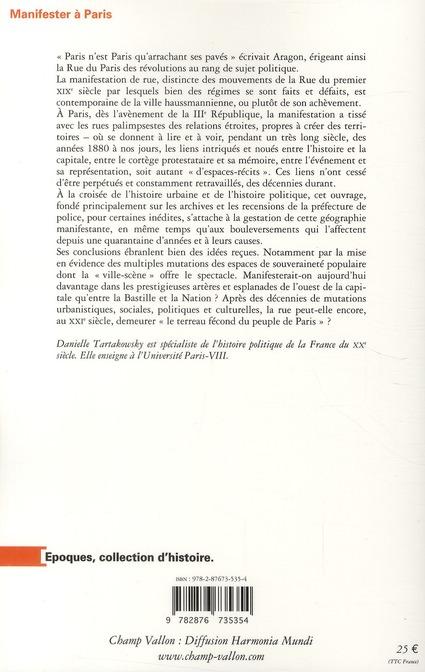 Manifester à Paris, 1880-2010