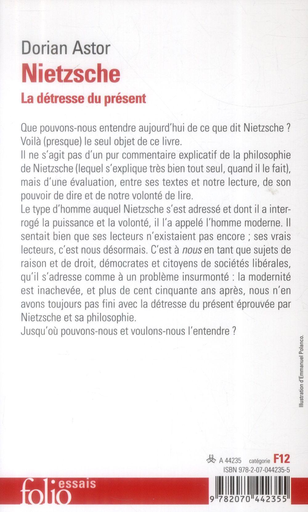 Nietzsche ; la détresse du présent