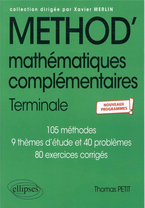 Mathematiques complementaires - terminale - nouveaux programmes