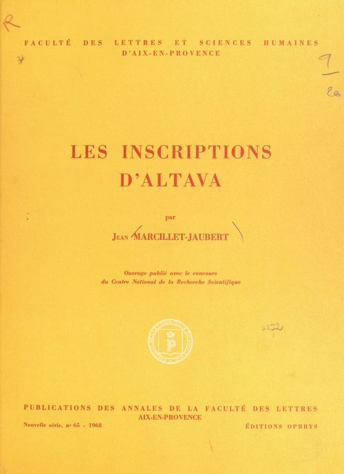 Les inscriptions d'Altava