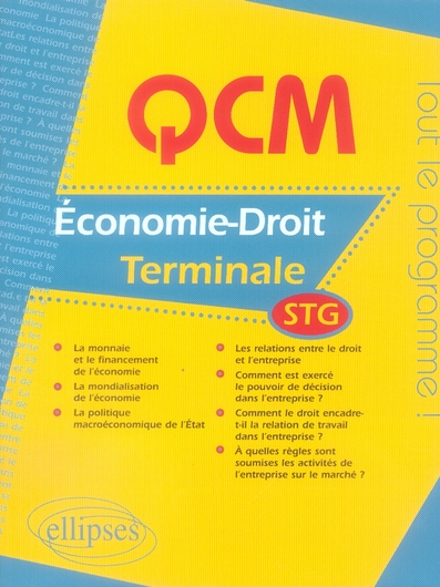 Qcm D'Economie-Droit Terminale Stg Tout Le Programme