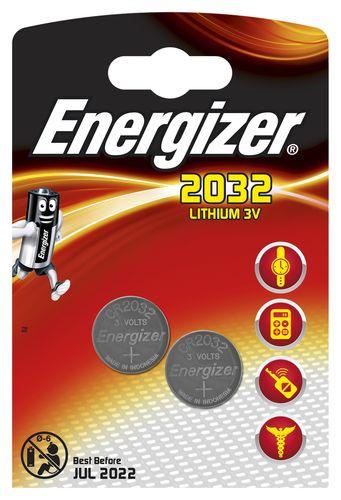 ENERGIZER LITHIUM CR2032 PACK DE 2