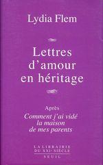 Vente Livre Numérique : Lettres d'amour en héritage  - Lydia Flem