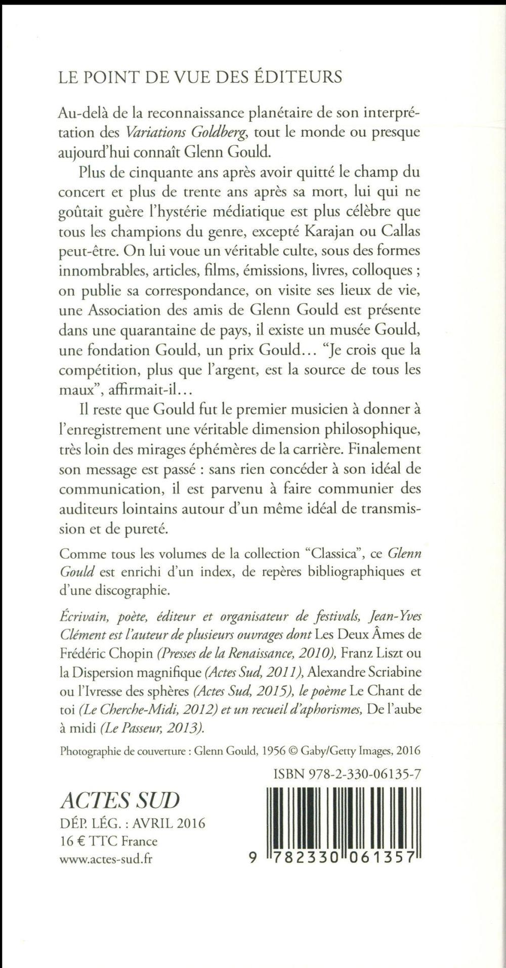 Glenn Gould ou le piano de l'esprit