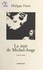 Vente Livre Numérique : La Nuit de Michel-Ange  - Philippe Faure