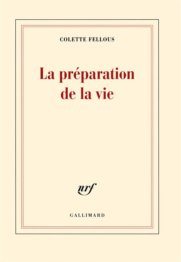 La préparation de la vie