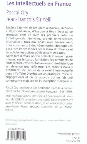 Les intellectuels en France ; de l'affaire Dreyfus à nos jours