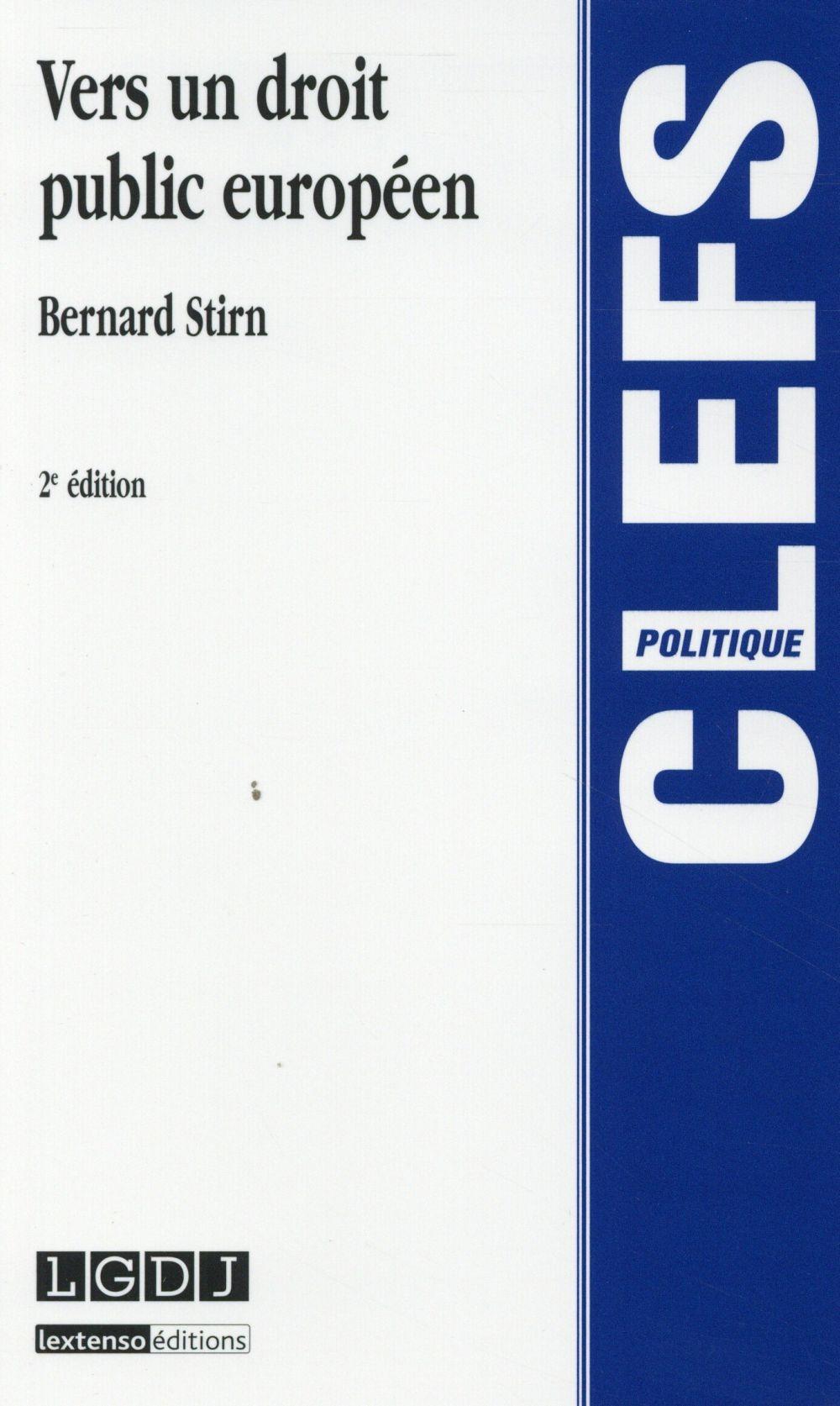Vers un droit public européen (2e édition)