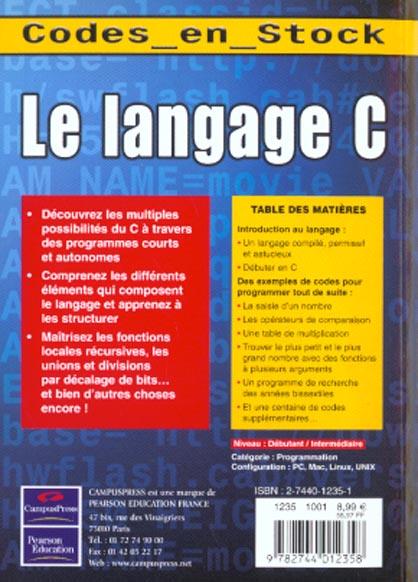 Le langage c