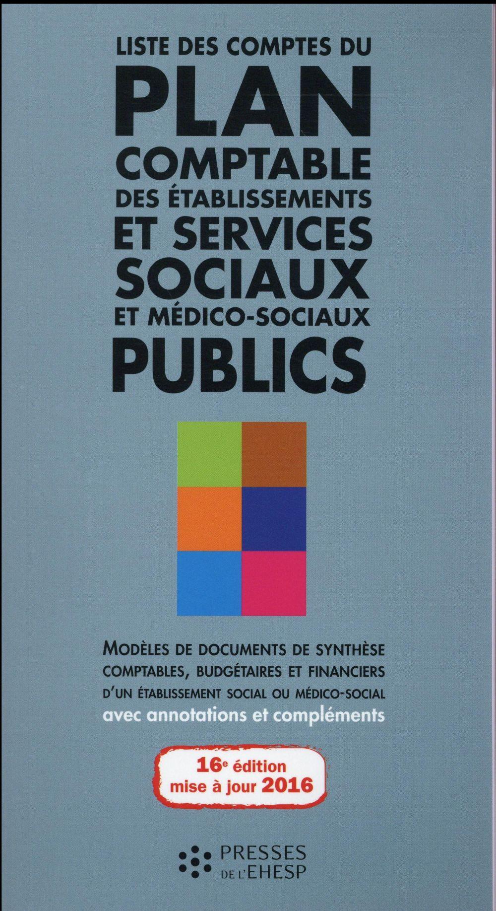 Liste des comptes du plan comptable des etablissements et services sociaux et me