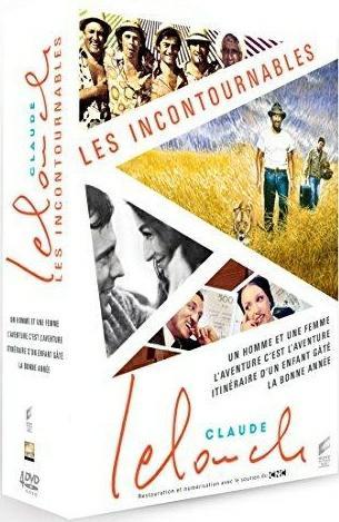 Claude Lelouch, les incontournables : Un homme et une femme + Itinéraire d'un enfant gâté + L'aventure c'est l'aventure + La bonne année