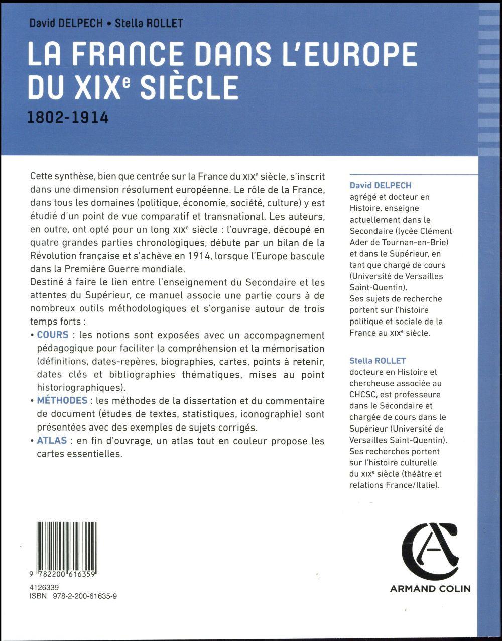 La France dans l'Europe du XIXe siècle ; 1802-1914