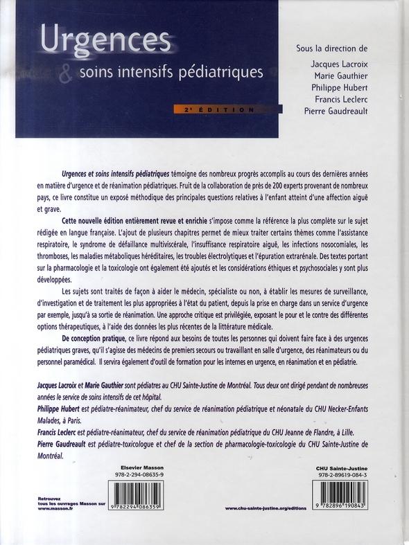 Urgent & soins intensifs pédiatriques (2e édition)