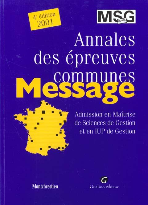 Msg france 2001